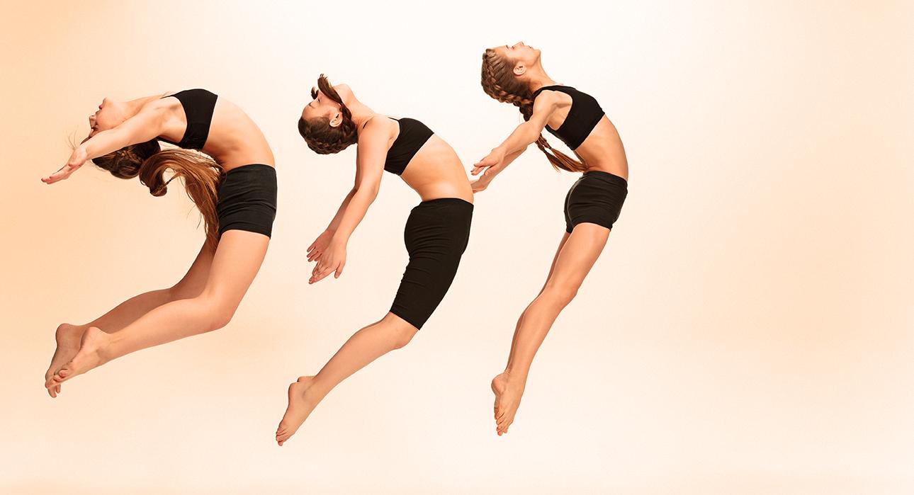 The kids dance school, ballet, hiphop, street, funky and modern dancers at studio